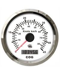 Speedomètre/boussole GPS GUARDIAN blanc-argentée