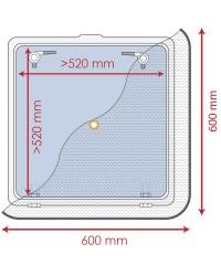 Moustiquaire pour panneaux de pont 600 x 600 mm 19.366.01