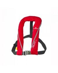 Gilet Pilot 165 automatique+ harnais rouge 66801 PLASTIMO