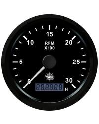 Compte-tours 0-3000 tpm noir/noir 27.325.01