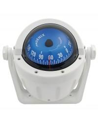 Compas bleu et blanc sur étrier - Rose frontale - 3'' 80 mm 25.015.08