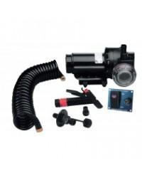 Kit pompe de lavage avec pompe de vivier - 20L/min - 12 V PLA473477