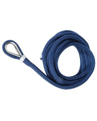 Amarre avec cosse inox ø10 mm X 6 M - bleu marine