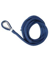 Bosse d'amarrage double tresse avec épissure ø14 mm X 9 M - bleu marine