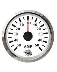 Ampèremètre - cadran blanc - lunette polie - 12/24 v 27.322.23