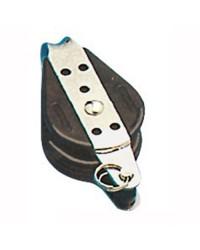 Poulie simple billes fixe à ringot pour corde de 6x22mm 55.028.06