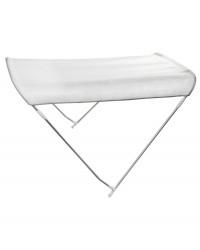 Bimini pliable 2 arceaux blanc 130/140 cm