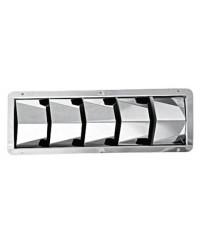 Grille de ventilation inox Louvres de 3 volets - 208x111x40 mm