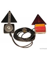Kit de feux de remorque à led - 12-24V - fixation magnétique