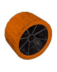 Galets latérales avec noyau en technopolymère Ø120 X75 - trou 15 mm - orange