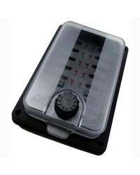 Boîte porte-fusibles à fiche étanche - 10 fusibles + LED témoin