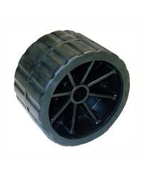 Roue latérale ø120 mm axe 18,5 mm pour remorque- noir