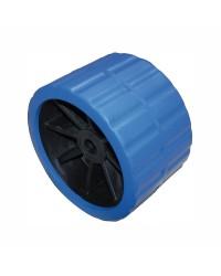 Roue latérale pivotante ø120 mm axe 18,5 mm pour remorque- bleu