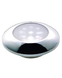 Plafonnier étanche LED chromé