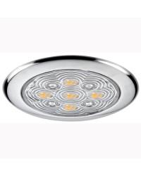 Plafonnier en inox poli sans encastrement 5 LED