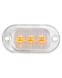 Lumière courtoisie sans bague polycarbonate 3 led jaune