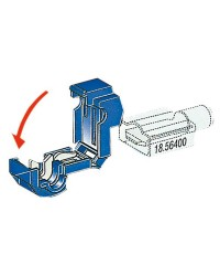 Cosse clips en T pour cable 2.6 - 6 mm