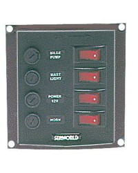 Tableaux en nylon avec 4 interrupteurs à bascule lumineux Light