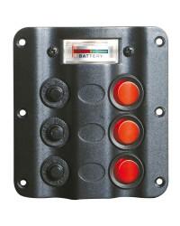 Tableau électrique Wave 3 interrupteurs + voltmètre