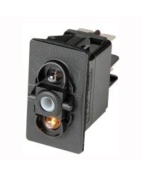 Interrupteur CARLING SWITCH Contura II LED Blanche 12V. (ON)-OFF-(ON) 4 terminaux