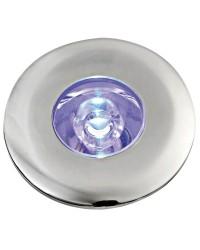 Lumière LED de courtoisie ronde à clipser led bleu