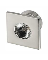 Feu de courtoisie LED à encastrer éclairage frontal - carré - Lumière bleue