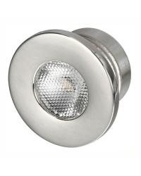 Feu de courtoisie LED à encastrer éclairage frontal - rond - Lumière blanche