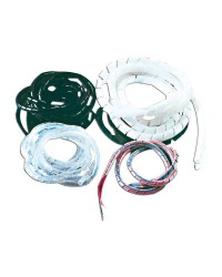 Gaine spiralée en polyéthylène blanc pour câblages