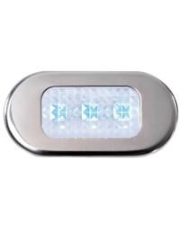 Lumière de courtoisie étanche en polycarbonate translucide 3 led bleu