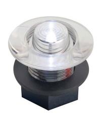 Feu de courtoisie polycarbonate à LED ø38 12V - blanc