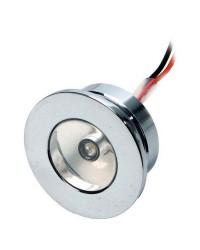 Lumière de courtoisie laiton chromé à LED ø32 12V - blanc