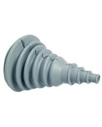 Soufflet passe câble caouchouc gris ø100 mm exterieur