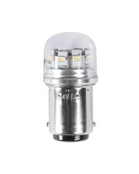 Ampoule LED SMD culot BA15D  avec protection en verre pour spots 1,5W