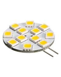 Ampoule 12 LED SMD culot G4 pour spots 15W