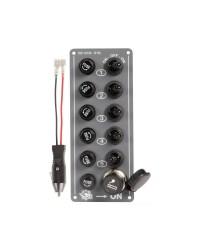 Tableau électrique Black 5 interrupteurs