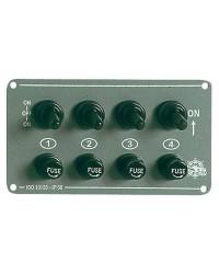 Tableau électrique Grey 4 interrupteurs