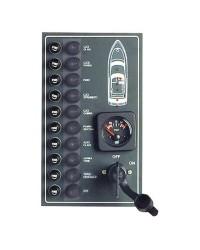 Tableau électrique étanche 10 interrupteurs fusibles standards 15A - 270x160mm