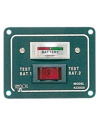 Tableau électrique testeur de charge pour 2 batteries