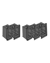 Supports pour interrupteur Carling switch noir - borne terminale D/G