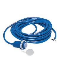 Câble avec prise de quai surmoulée 50 A bleu - 10 mètres