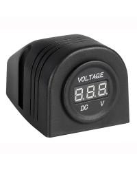 Voltmètre numérique fixation sur plan 8/32V