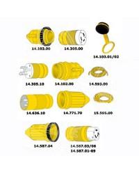 Câble électrique spécial eau de mer 3 x 6 mm² jaune