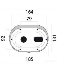 Coffret douche et mélangeur + porte neutre - oval - sortie transversale