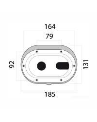 Porte neutre pour coffret de douche - oval - blanche