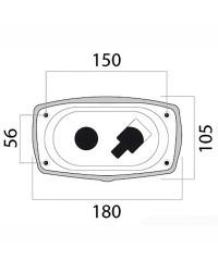 Coffret douche et mélangeur + porte neutre - new edge - sortie transversale