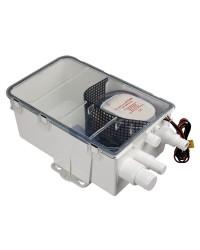 Collecteur d'eau usées avec pompe automatique Europump 24V