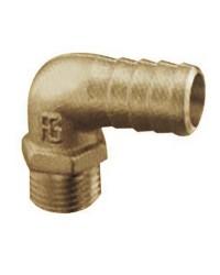 Embout laiton mâle à 90° - 10 mm - 1/4'