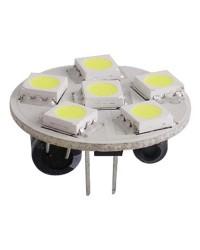 Ampoule 6 LED SMD culot G4 pour spots 7W