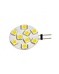 Ampoule 9 LED SMD culot G4 12/24V Fixation latérale