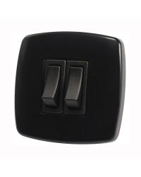 Interrupteur Contemporary 2 fonction - noir